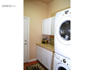 Large Laundry with Stack Washer/Dryer