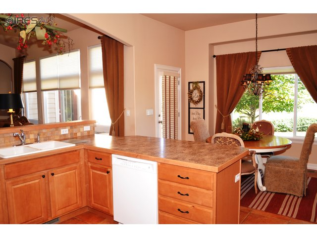 Kitchen With Views to Back Yard