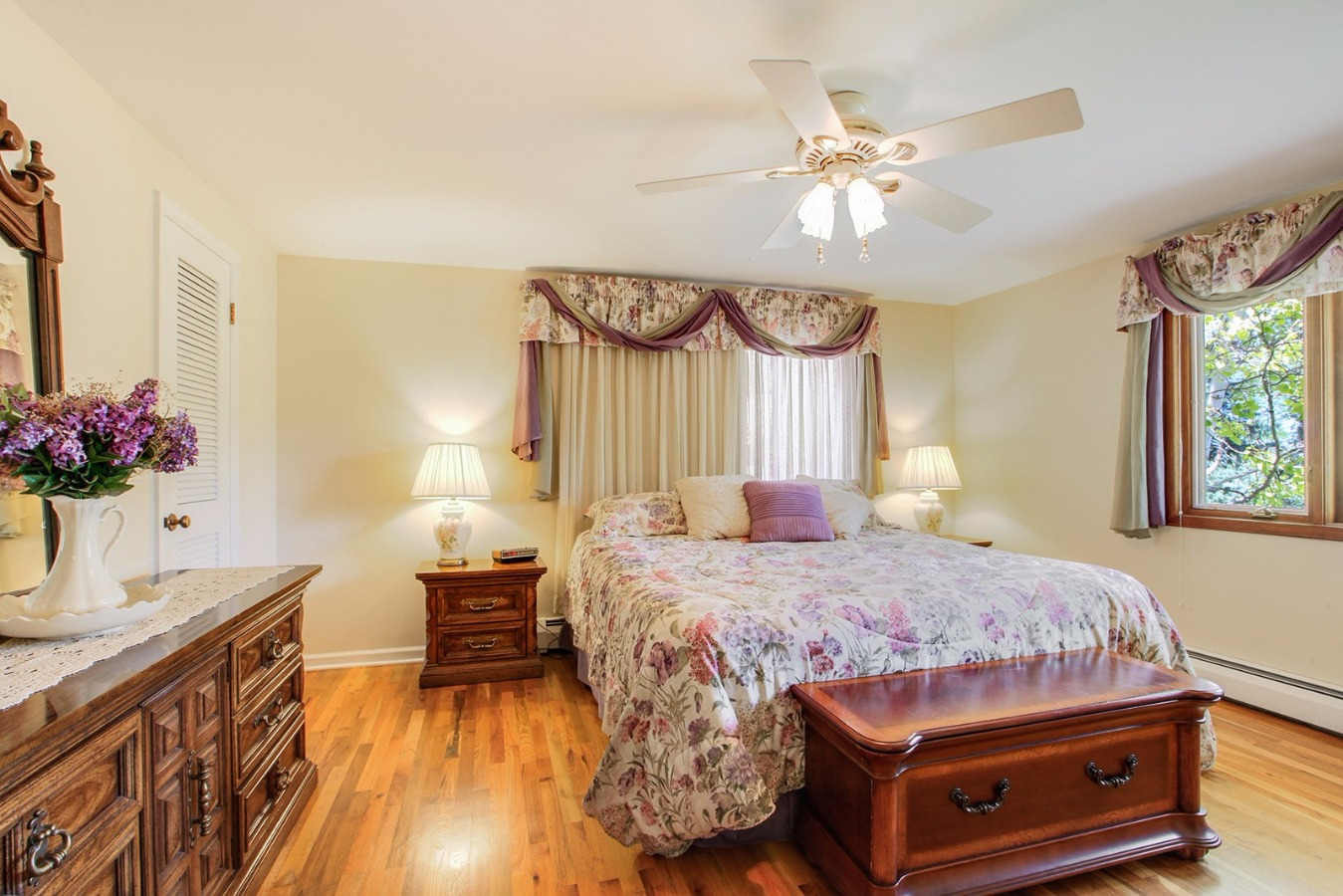 Spacious and light master bedroom