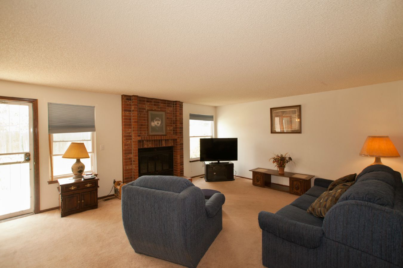 Large Family Room with Fireplace