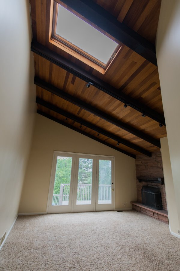 Light and Bright Vaulted Family Room