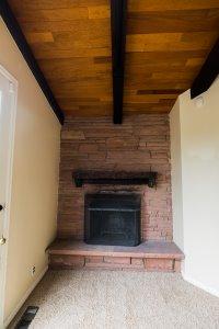 Lovely Flagstone Fireplace