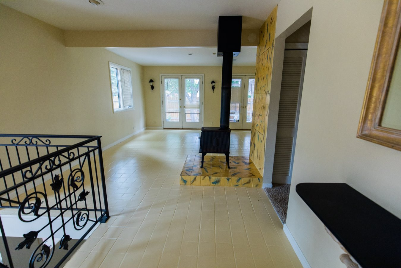Double French Doors to Deck with Views!