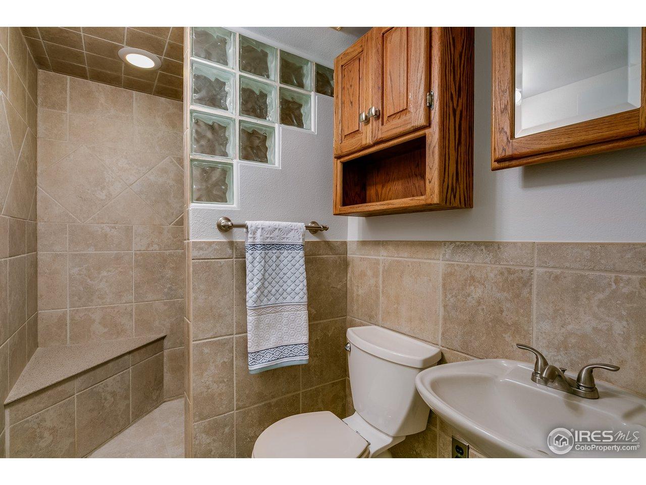 Nicely Updated Basement Bathroom