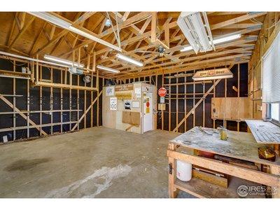 Garage with Plenty of Work Space