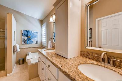 Nicely updated master bathroom