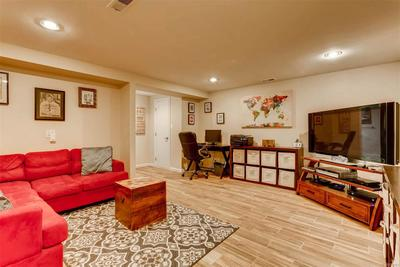 Basement flex space - home office, play room or guest suite with private full ba