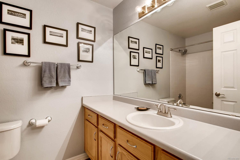 Secondary bathroom on upper level