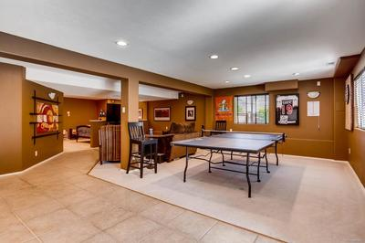 Fully finished walk out basement with high ceilings - open and bright!  So many
