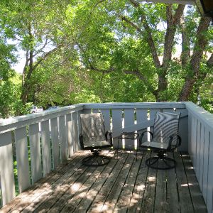 Private, shaded deck