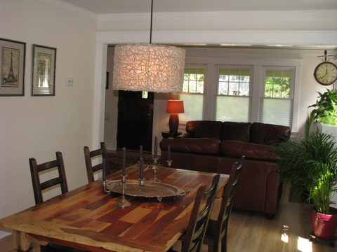 Dining room, note the beautiful wood floors