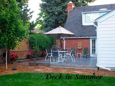 Here is what the deck looks like in Summer