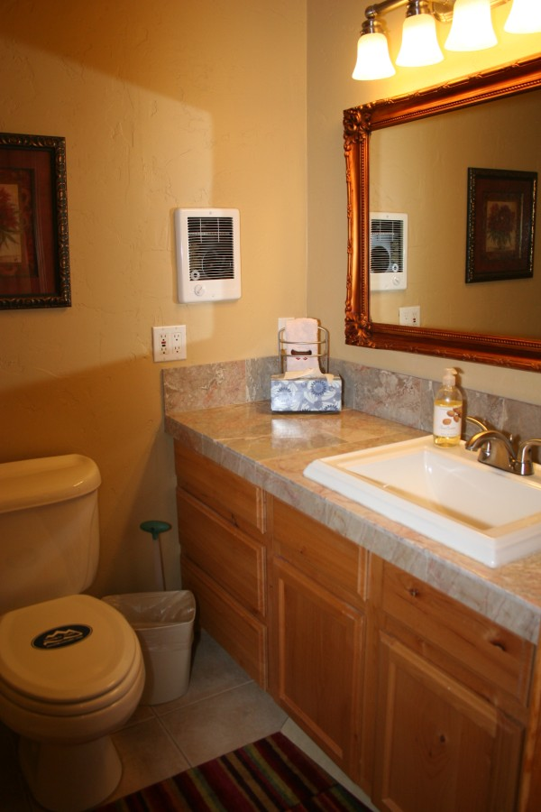 Master bath with Seat in Shower