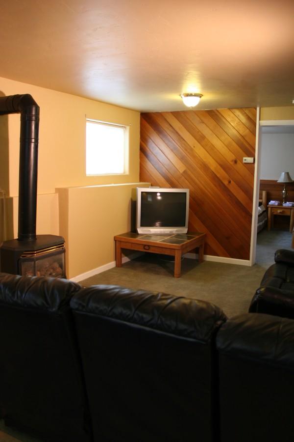 Family room in Garden Level Basement