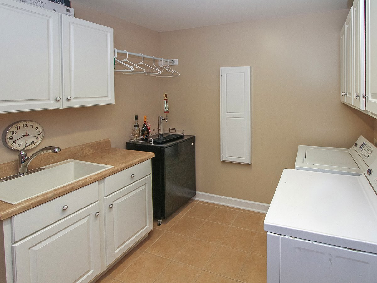 Large Laundry area for both residences