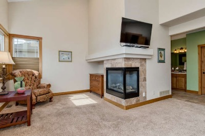 Main Floor master with sitting area