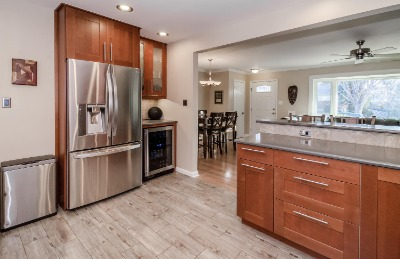 Stainless Appliances + Wine Refrigerator