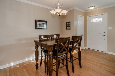 Hardwoods in Dining Room