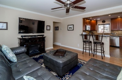Hardwood Floors in Living Room