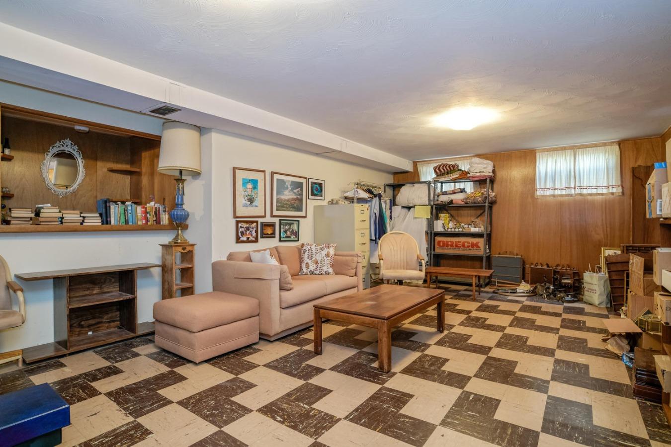 Spacious Retro 60's Family Room in Basement