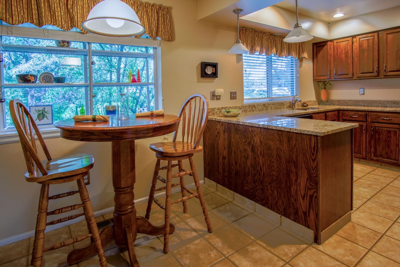 Lots of natural light in the kitchen