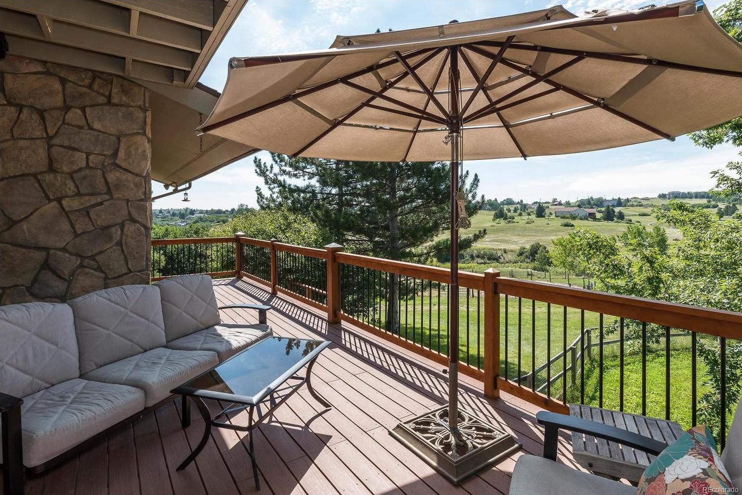 Extensive Trex Deck off the Living and Dining Rooms with Meadow Views