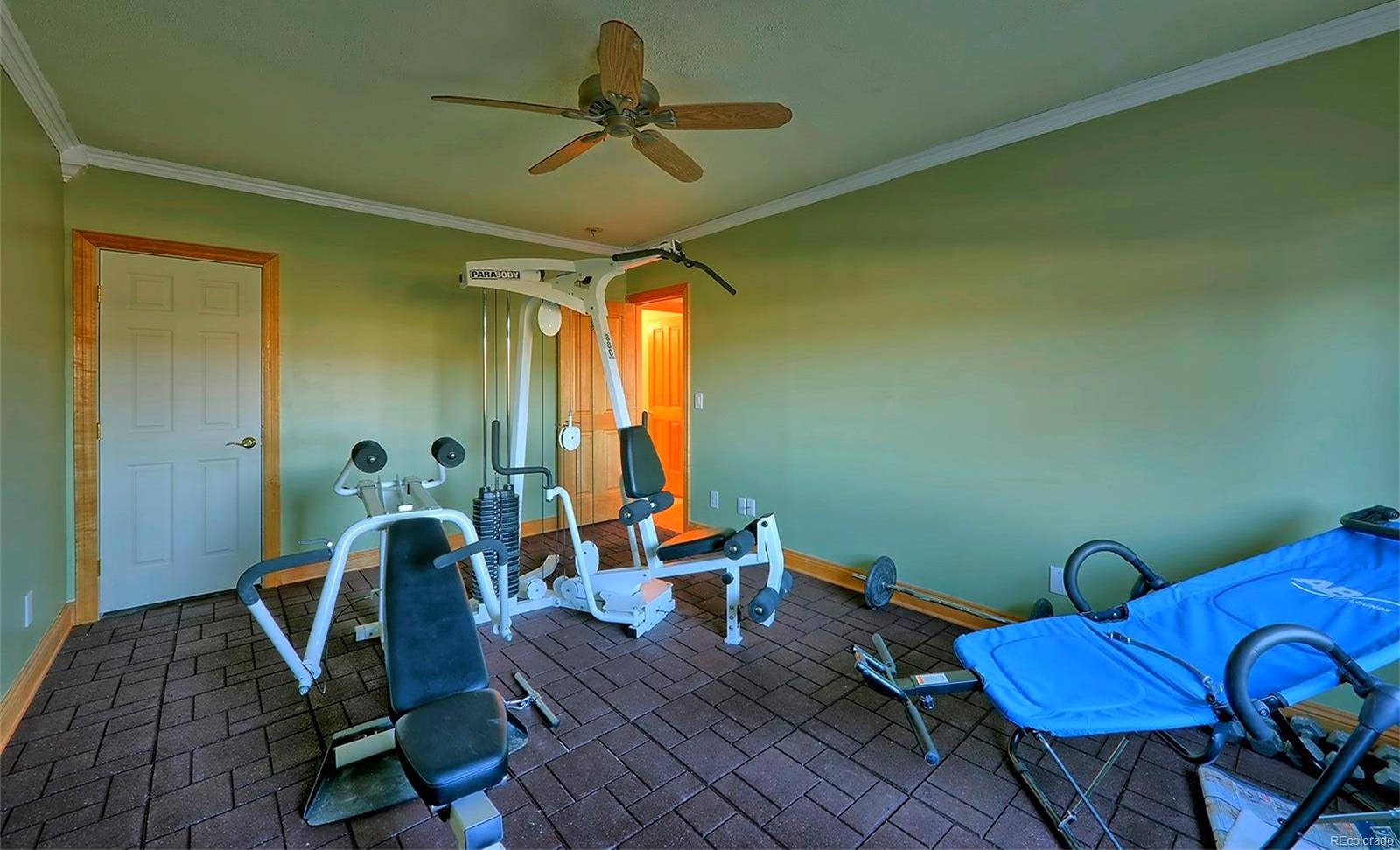 WORKOUT OR BEDROOM IN LOWER LEVEL
