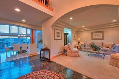 Formal living room & grand 2-story entry