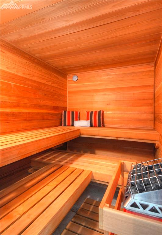 Sauna in the pool house.