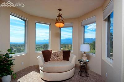 Sitting area in the Master bedroom...note the views!