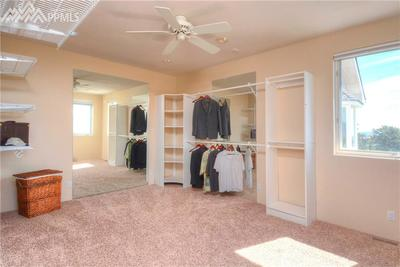 One of the walk-in closets in the Master bedroom (there are 2!!!) ...huge!