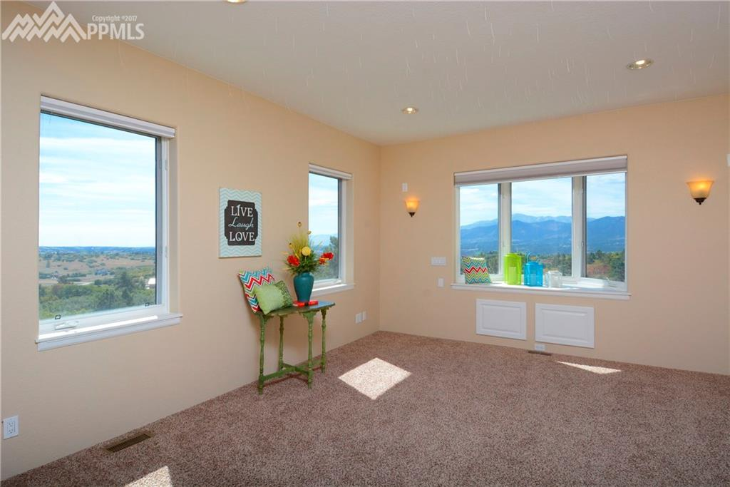 upstairs bedroom with great mountain and city views.