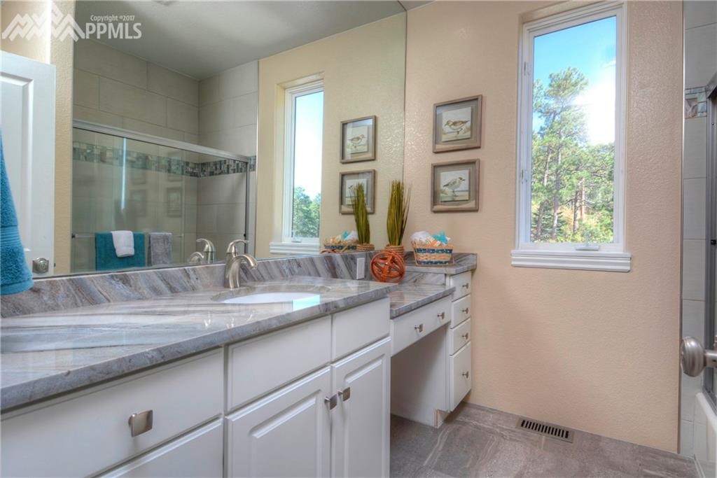 Another recently remodeled full bath in another upstairs bedroom.