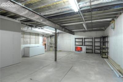 Large storage area. Note steel frame construction. Very well built home.