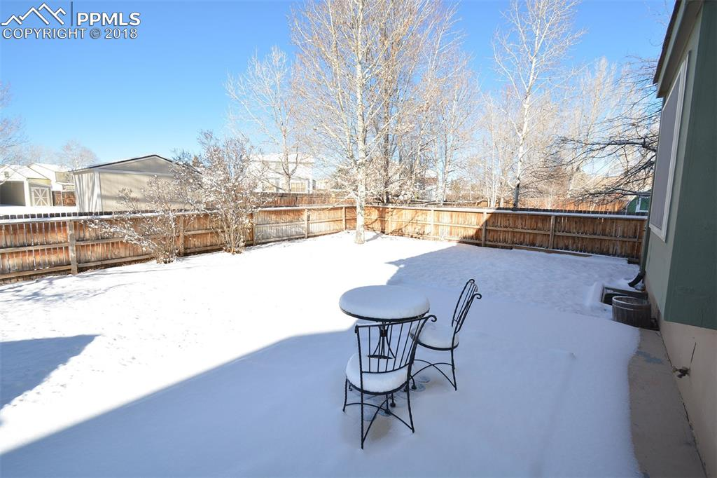 View of back yard from the patio.