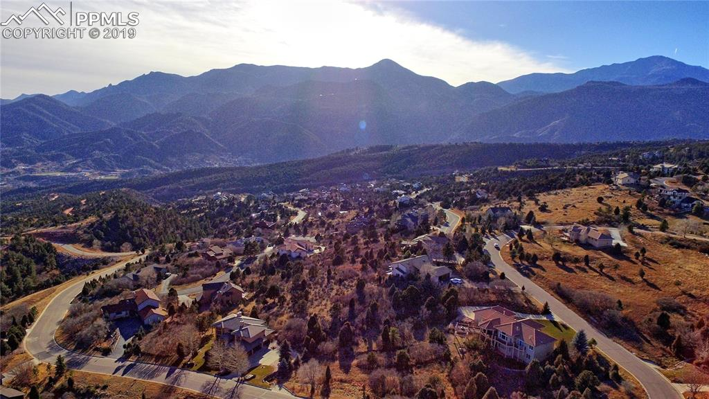 View of Cedar Height, Front Range and Pikes Peak