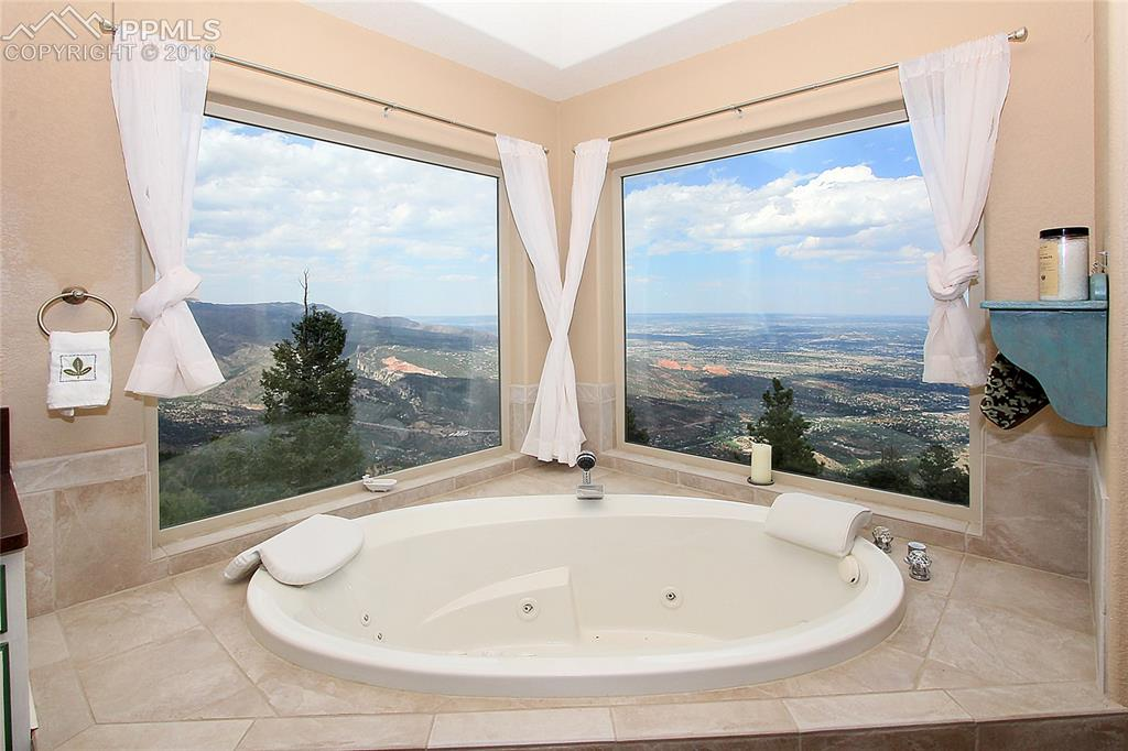 Master bathroom view #2 Jetted tub and Views galore
