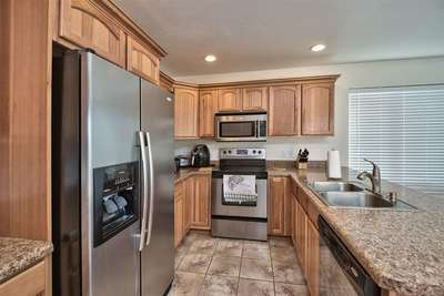 In addition to stainless steel appliances, this home offers a double stainless s