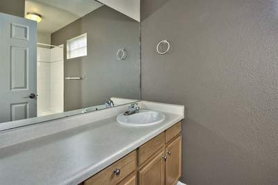 Lots of Counterspace in the Master Bathroom!