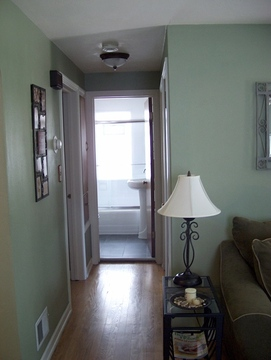 Hall leads to 2 Bedrooms & Bath