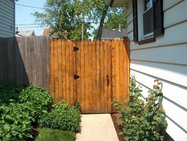 Gated Fence to Backyard ...