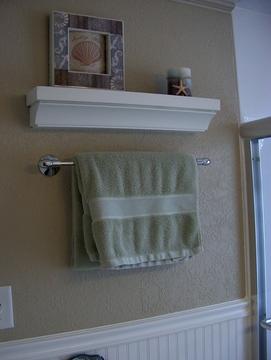 Wainscotted Bathroom walls.