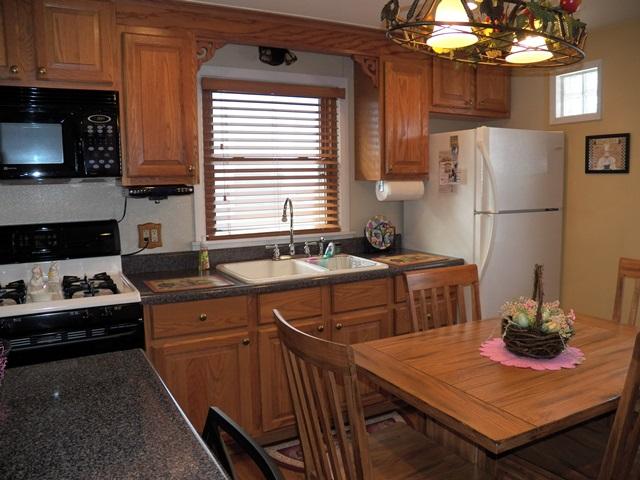 Stove, Refrigerator & Microwave.