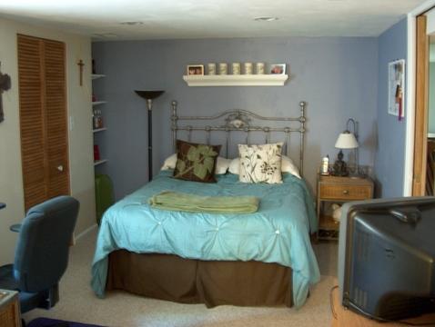 Carpeted, Closet & Office area.