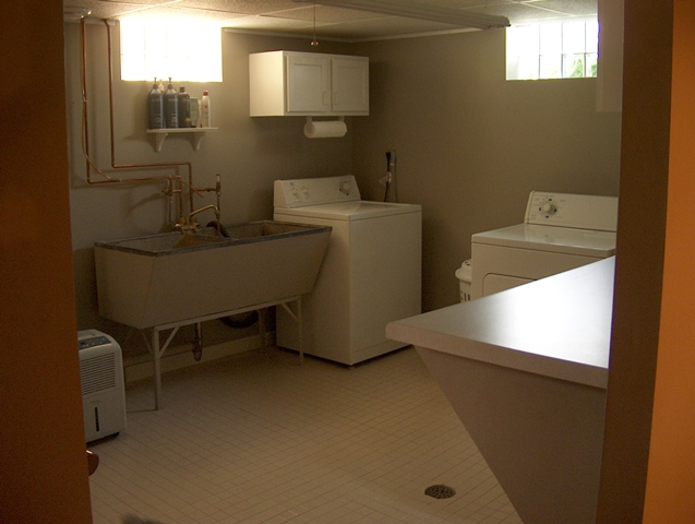 Washer & Dryer in Laundry Room.