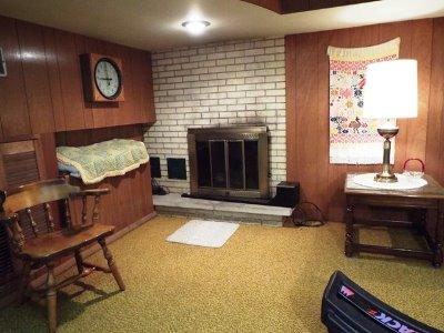 Rec Room Natural Fireplace