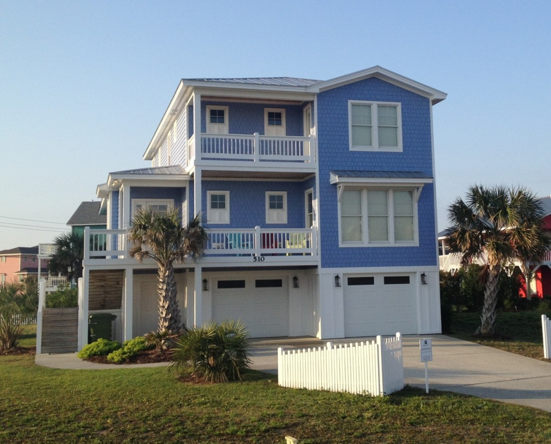510 seahorse place in kure beach nc for Beach house builders