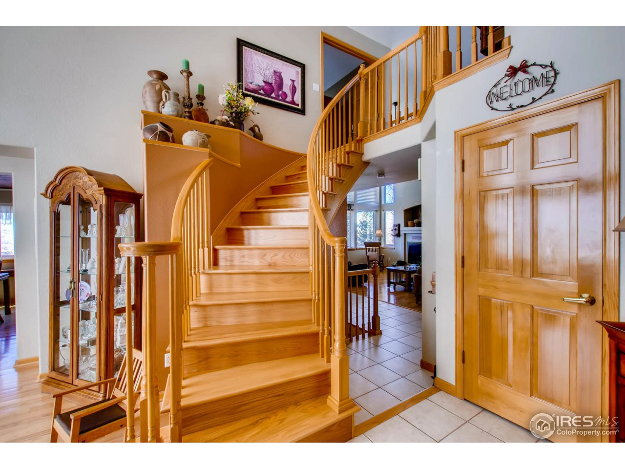 Beautiful Spiral Wood Staircase
