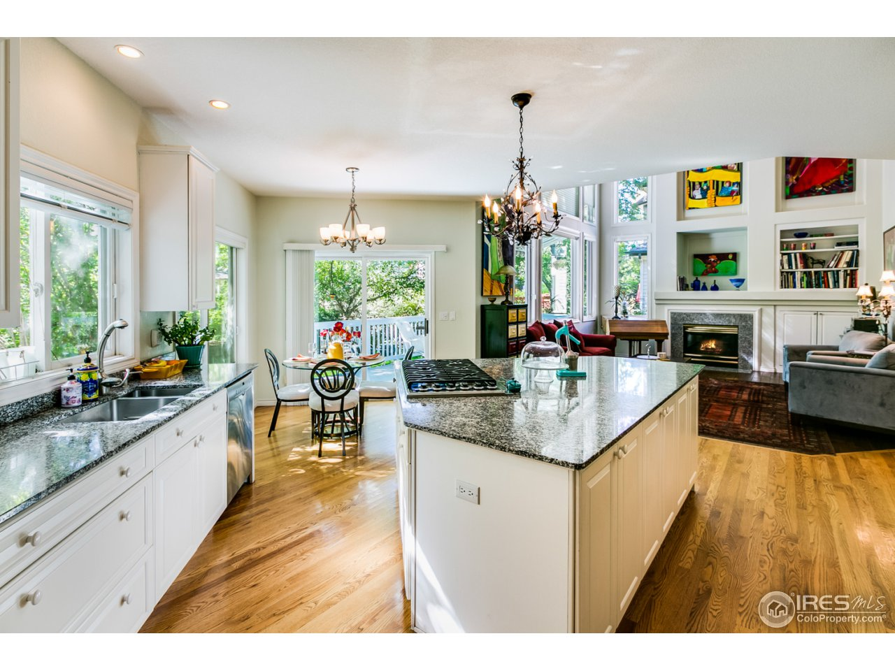 Chef's kitchen with granite counters