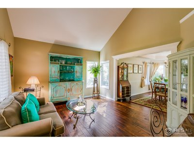 Formal sitting area leads to dining room